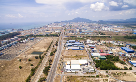 oil and gas industry: aerial view oil and gas industry at kerteh terengganu