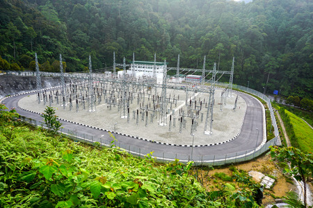 electrical substation from above view