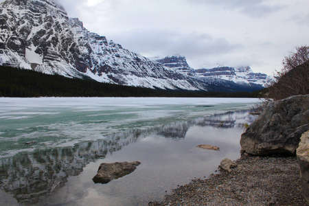 banff national park: Lake in Banff National Park, Alberta Canada Stock Photo