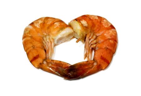 tiger shrimp: Tiger shrimp isolated on white background