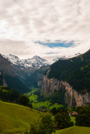 Beautiful view of Swiss Alps peaks