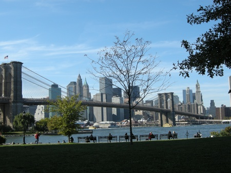 vue: New-york vue de brooklin bridge Editorial