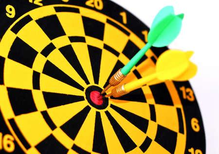 Darts on a bulls-eye