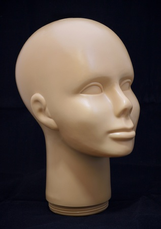 A human face wig holder Stock Photo