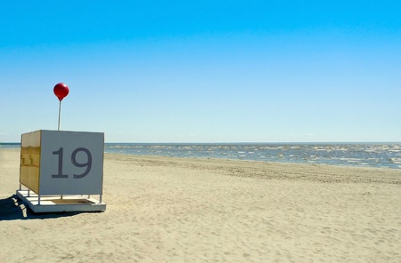 Changing Room Cubicle at the Parnu beach in Estonia