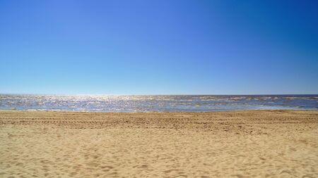 Blue sky and nice beach background