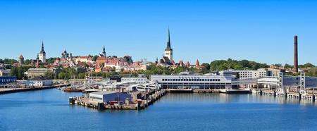 tallinn: Wide shot of the Capital Tallinn, Estonia
