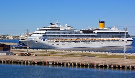 Cruise is approaching the Tallinn Terminal Port Editorial