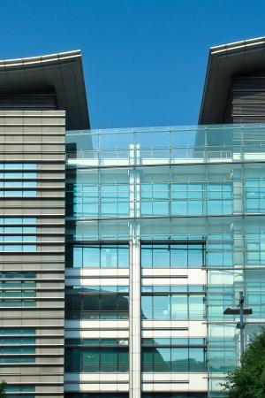 edificio corporativo: Arquitectura Moderna en La Ciencia de Hong Kong y Parques Tecnol�gicos Foto de archivo