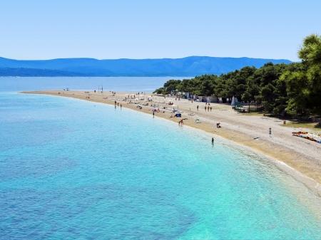 chorwacja: Zlatni Rat Złoty Przylądek to popularna plaża w Bol, który jest w południowej części wyspy Brac w Split-Dalmacja County Chorwacji