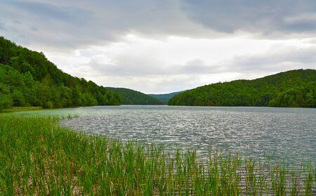 Lake in Plitvice National Park, Croatia, Europe Stock Photo