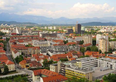Beautiful  scene of Capital City Ljubljana in Slovenia