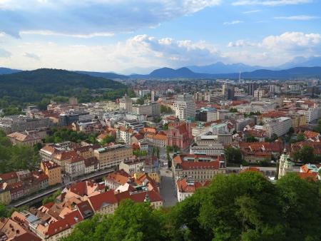 ljubljana: Beautiful scene of Capital City Ljubljana in Slovenia