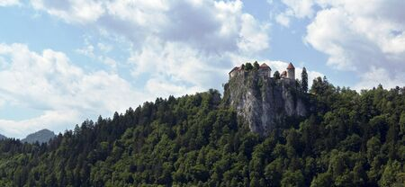 View on Bled castle, Slovenia Editorial