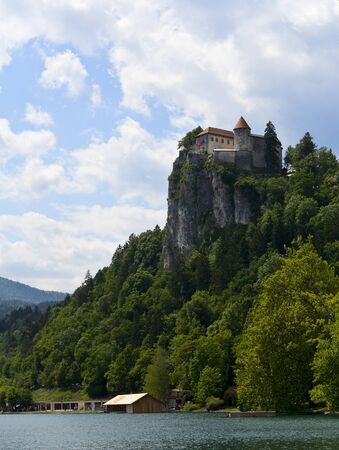 karavanke: View on Bled castle, Slovenia Editorial
