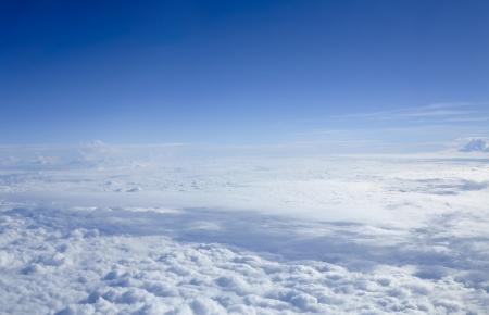 Beautiful Cloudscape through flight window