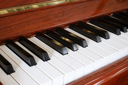 A wood Piano Stock Photo