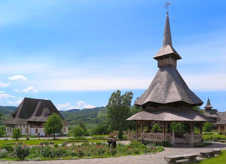 Barsana monastery complex in Maramures in Romania