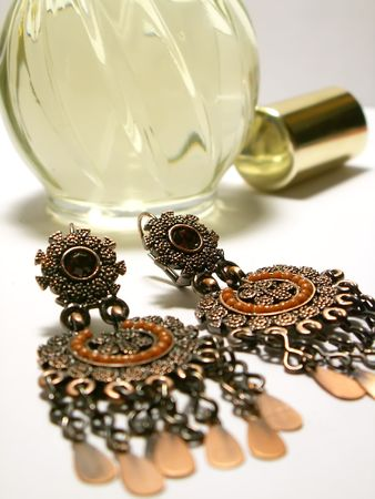 jewelery and perfum Stock Photo