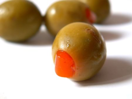 green olives with paprika