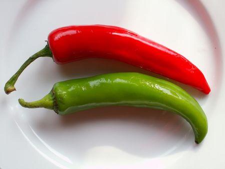 chiles picantes: pimientos caliente