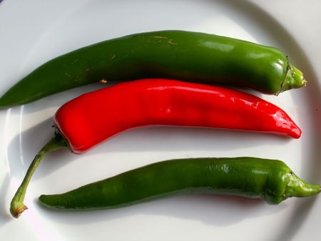 hot peppers Stock Photo - 344931