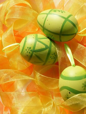 green easter eggs photo