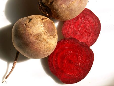 beetroots over white Stock Photo