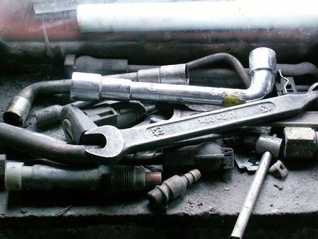 metal fastener: old tools