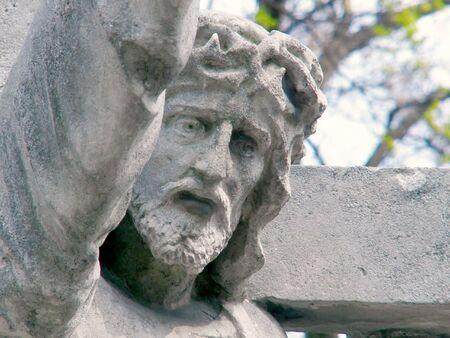 inri: Jesusu on a cemetery in Poland
