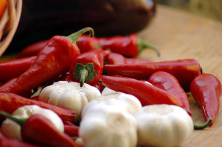 aphrodisiac: a chili peppers and garlic