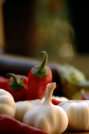 aphrodisiac: chili peppers and garlic
