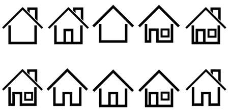 House icon illustration. Vector illustration. Flat design Векторная Иллюстрация