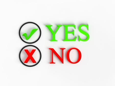 tickbox: Tick box YES and NO