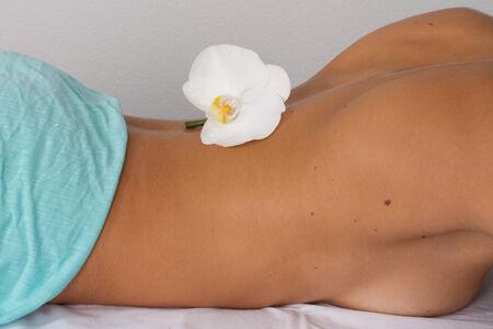tuina: body of woman Stock Photo