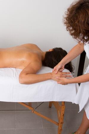 tuina: hands massage Stock Photo