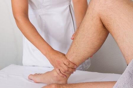 tuina: ankles massage Stock Photo