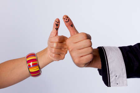 fingertips: fingertips with smiley faces