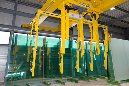Warehouse glass industry photo