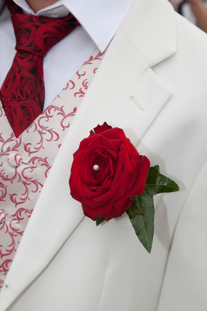 buttonhole: Groom boutonniere