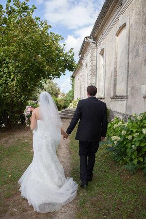newly married couple photo
