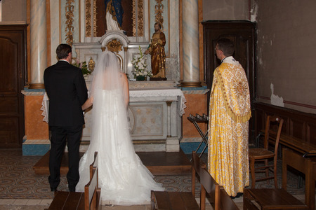 god s hand: Ceremony in church