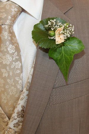 boutonniere: Groom boutonniere