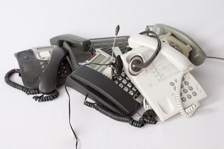 A pile of phones Banque d'images