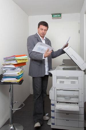 photocopy: Business man with the photocopy