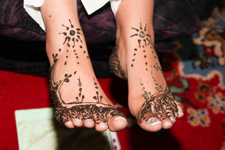 aesthetical: Henna Stock Photo