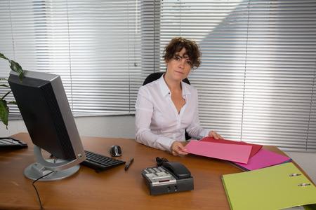 working woman: Working woman Stock Photo