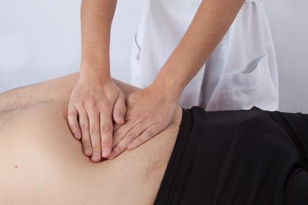 tuina: A man getting a massage