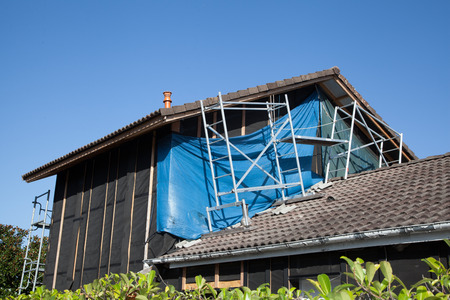 restoration: restoration house Stock Photo
