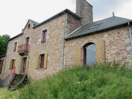 brittany: Typical country house in Brittany